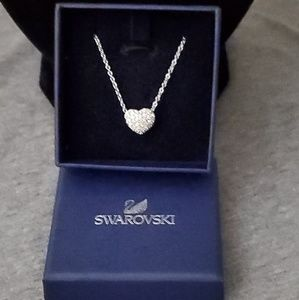 Swarovski double sided heart necklace.